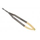 "Flex Series: Needle Holder: 7"" Universal round handle, straight tips"