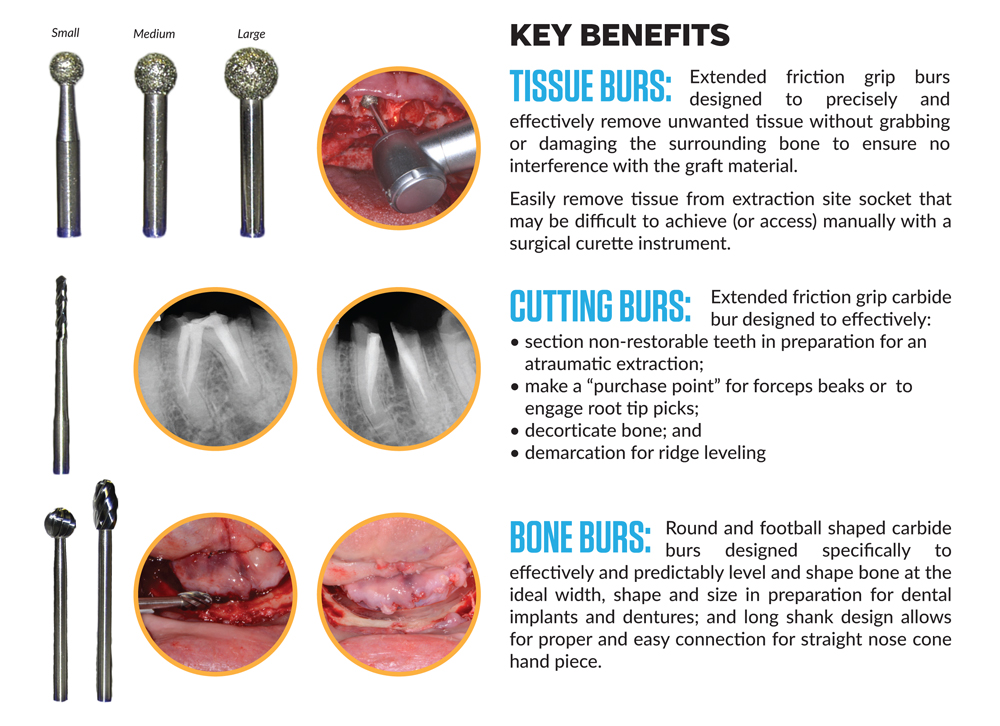 Benefits of Dr. Nazarian Osseous Bur Intro Kit